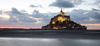 Mont-San-Michel, vista panoramica Immagini Stock Libere da Diritti