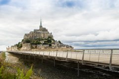 Mont Sanktt Michel royaltyfria foton