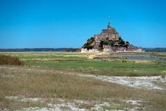 Mont Sanktt Michel Arkivfoto