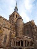 Mont Sanktt Michel - Frankrike Arkivbilder