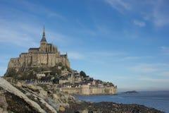 Mont Sanktt Michel, Frankrike Royaltyfria Foton