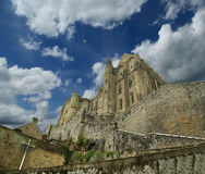 Mont Sanktt-Michel, Normandy, Frankrike Royaltyfri Bild