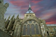 Mont Sanktt-Michel, Normandy, Frankrike Arkivfoton