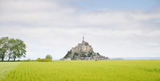 Mont saint Michel, Normandy, Frankrike Royaltyfri Foto