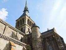 Mont santo-Miguel de la abadía de la iglesia en Normandía Imagenes de archivo