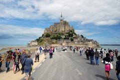 Mont-Santo-Miguel, Francia Imagen de archivo libre de regalías