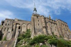 Mont-Santo-Miguel - Normandía - Francia Foto de archivo