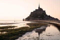 Mont-Santo-Miguel - Normandía - Francia Foto de archivo libre de regalías