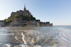 Mont-Santo-Miguel - Normandía - Francia Fotos de archivo