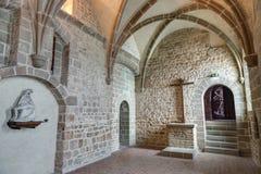 Mont-Santo-Miguel - Normandía - Francia Imagen de archivo libre de regalías