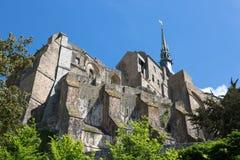Mont-Santo-Miguel - Normandía - Francia Imágenes de archivo libres de regalías