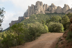 Mont Serrat track. Royalty Free Stock Photography