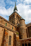 Mont St米谢尔修道院 库存图片