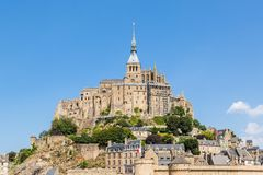 Mont St米谢尔,诺曼底,法国 免版税库存图片