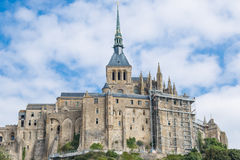 Mont St米谢尔,诺曼底,法国 库存图片