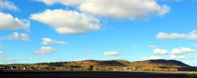 Mont St-Bruno. In Southern Quebec in fall with great foliage royalty free stock images