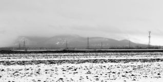 Mont St-Hilaire. In Southern Quebec in Winter royalty free stock image