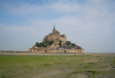 Mont St. Michel在法国 库存照片