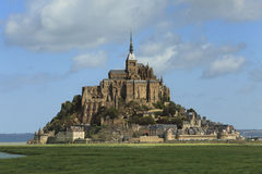 Mont St. Michel. Image of the Monastry from Mountain St.Michel  in France Royalty Free Stock Images