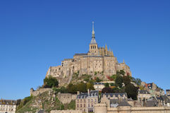 Mont St Michel. View of the grand Mont St Michel in Normandy, France during the day Royalty Free Stock Photos
