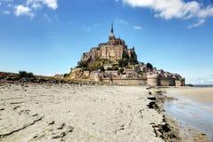 Mont St Michel ・诺曼底法国 免版税图库摄影