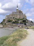 Mont St Michel. The extraordinary monastry atop a granite outcrop on the Normandy/Brittany border in France Royalty Free Stock Images