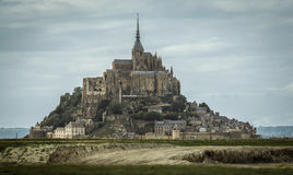 Mont-St-Michel em Normandy, France Foto de Stock Royalty Free