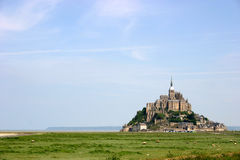 Mont St. Michel, France. Picture of Mont. St. Michel monestary in France stock image
