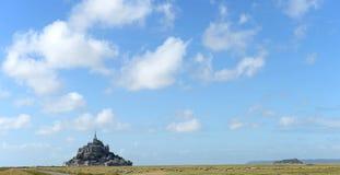 Mont St Michel Frankrike Arkivbild