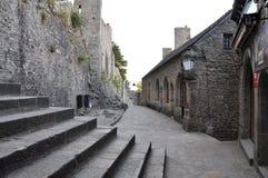 Mont St Michel i Frankrike Royaltyfri Fotografi