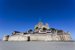 Mont St Michel-Insel Stockfoto