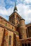 Mont St Michel kloster Arkivbilder