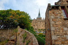 Mont St Michel-Kloster Stockfoto