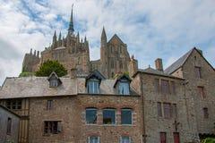 Mont St Michel kloster Royaltyfri Fotografi