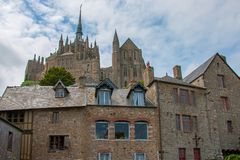 Mont St Michel monastery Royalty Free Stock Photography