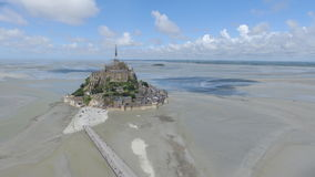 Mont St. Michel. The monastery island Mont St. Michel in France Stock Images