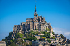Mont St. Michel. The monastery on an island in Normandy Stock Photo
