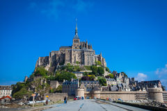 Mont St. Michel. The monastery on an island in Normandy Stock Photos