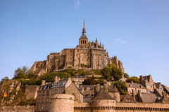 Mont St. Michel. The monastery on an island in Normandy Royalty Free Stock Photos