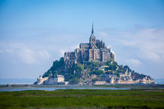 Mont St. Michel. Monastery Mont St. Michel, the monastery on an island in Normandy Stock Image