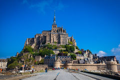 Mont St. Michel. Monastery Mont St. Michel, the monastery on an island in Normandy Stock Photography