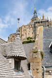 Mont St Michel, Normandië, Frankrijk Stock Afbeelding