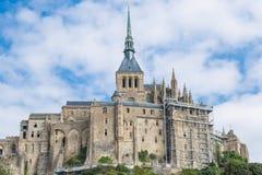 Mont St Michel Normandie, Frankrike Fotografering för Bildbyråer