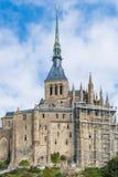 Mont St Michel Normandie, Frankrike Royaltyfri Bild