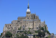 Mont St Michel. In Normandy France Royalty Free Stock Photo