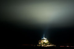 Mont St Michel in Normandy at Night Stock Photography