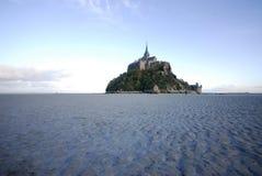 Mont St Michel von der Nordseite Stockbild