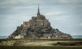 Mont-St-Miguel en Normandía, Francia Foto de archivo libre de regalías