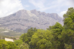 Mont Ste. Victoire, outside of Aix en Provence, France Stock Photography