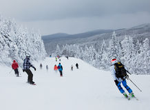 Mont-Tremblant χιονοδρομικό κέντρο, Κεμπέκ, Καναδάς Στοκ φωτογραφία με δικαίωμα ελεύθερης χρήσης